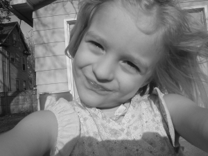 Luthien took this photo of herself last summer
