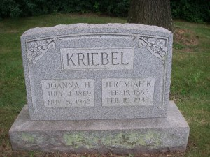 Joanna and Jeremiah Kriebel, my great-great-grandparents